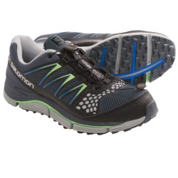 Salomon XR Crossmax 2 Trail Running Shoes (For Men) in Grey Denim/Onix/Green