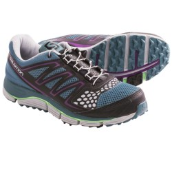 Salomon XR Crossmax 2 Trail Running Shoes (For Women) in Mineral Grey/Onix/Green