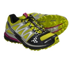 Salomon XR Crossmax Neutral CS Trail Running Shoes (For Women) in S-Green/Titanium/Fancy Pink - Closeouts