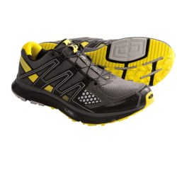 Salomon XR Mission CS Shoes - ClimaShield®, Trail Running (For Men) in Iguana Green/Black/Green