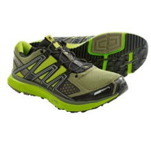 Salomon XR Mission CS Shoes - ClimaShield®, Trail Running (For Men) in Iguana Green/Black/Green - Closeouts