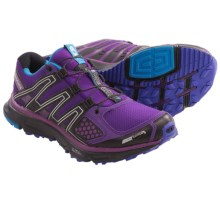 Salomon XR Mission CS Shoes - ClimaShield®, Trail Running (For Women) in Grape Juice/Black/Blue - Closeouts