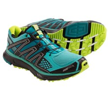 Salomon XR Mission CS Shoes - ClimaShield®, Trail Running (For Women) in Moorea Blue/Black/Green - Closeouts