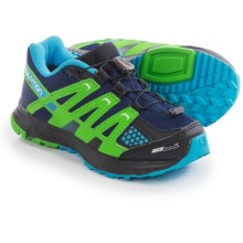 Salomon XR Mission CSWP Trail Shoes - Waterproof (For Youth) in Lake/Fluo Green/Fluo Blue - Closeouts