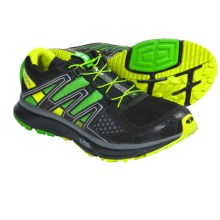 Salomon XR Mission Trail Running Shoes (For Men) in Black/Light Green-X/Pop Green - Closeouts