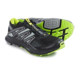 Salomon XR Mission Trail Running Shoes (For Men) in Black/Light Onix/Organic Green