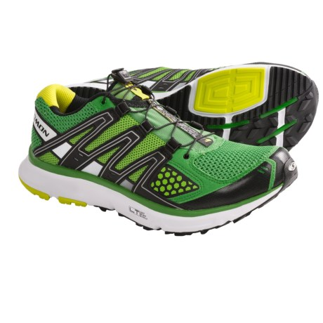 Salomon XR Mission Trail Running Shoes (For Men) in Clover Green/Black/Light Green