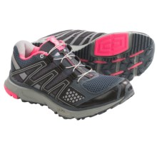 Salomon XR Mission Trail Running Shoes (For Women) in Grey Denim/Onix/Pink - Closeouts