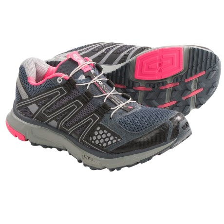 Salomon XR Mission Trail Running Shoes (For Women) in Grey Denim/Onix/Pink