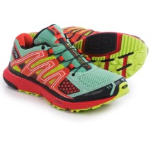 Salomon XR Mission Trail Running Shoes (For Women) in Papaya/Black/Igloo Blue - Closeouts