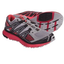Salomon XR Mission Trail Running Shoes (For Women) in Pewter/Papaya//Black - Closeouts