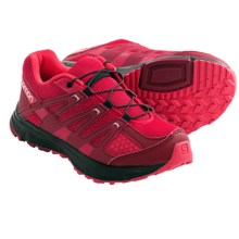 Salomon XR Mission Trail Shoes (For Kids and Youth) in Dynamic/Burgundy/Papaya - Closeouts
