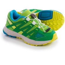 Salomon XR Mission Trail Shoes (For Kids and Youth) in Spring Green/Fern Green/Methyl Blue - Closeouts