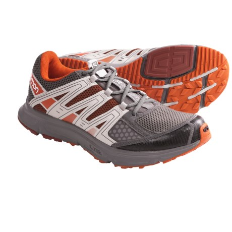 Salomon XR Shift Trail Running Shoes (For Men) in Autobahn/Deep Red/Grey