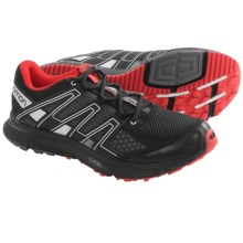 Salomon XR Shift Trail Running Shoes (For Men) in Black/Dark Cloud/Red - Closeouts