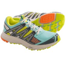 Salomon XR Shift Trail Running Shoes (For Women) in Topaz Blue/Yellow/Grey - Closeouts