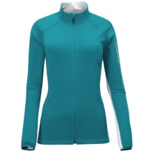 Salomon XT II Jacket - Soft Shell (For Women) in Bay Blue/White - Closeouts