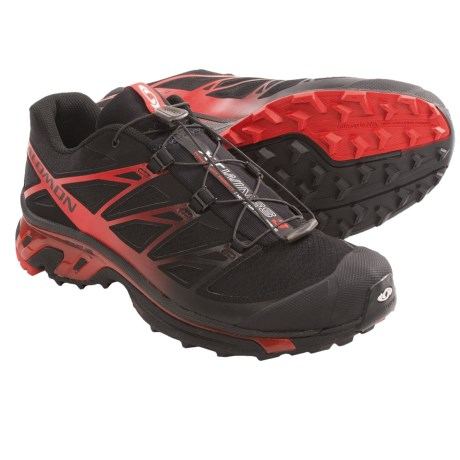 Salomon XT Wings 3 Trail Running Shoes (For Men) in Black/Black/Bright Red