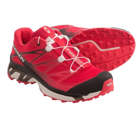 Salomon XT Wings 3 Trail Running Shoes (For Women) in Dynamic/Black/Papaya