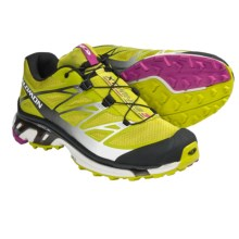 Salomon XT Wings 3 Trail Running Shoes (For Women) in Green/Black/Pink - Closeouts