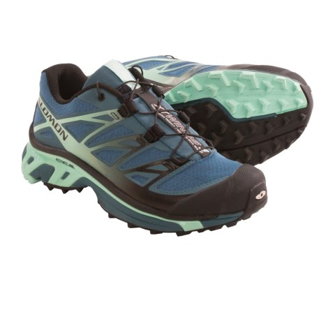 Salomon XT Wings 3 Trail Running Shoes (For Women) in Mineral Grey/Black/Igloo Blue