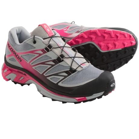 Salomon XT Wings 3 Trail Running Shoes (For Women) in Pearl Grey/Pink/Black