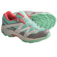 Salomon XT Wings Hiking Shoes (For Kids and Youth) in Celadon/Pewter/Papaya - Closeouts