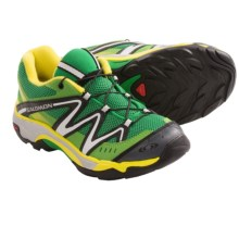 Salomon XT Wings Hiking Shoes (For Kids and Youth) in Clover Green/Green/Yellow - Closeouts