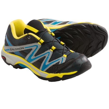 Salomon XT Wings Hiking Shoes (For Kids and Youth) in Grey Denim/Yellow/Blue