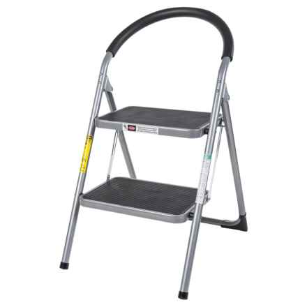 Samsonite Collapsible Stepladder in Silver/Black - Closeouts