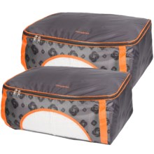 Samsonite Collapsible Storage Bags - Set of 2 in Charcoal/Orange - Closeouts