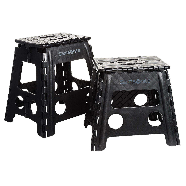 samsonite folding step stools 2pack in black
