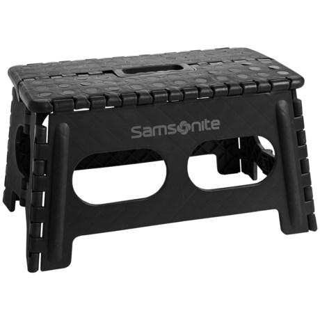 Samsonite Mini Extra Wide Folding Step Stool in Black/Gray