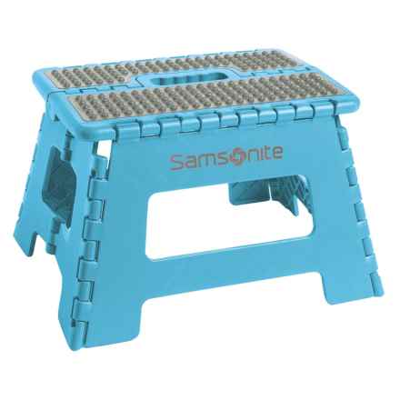 "Samsonite Mini Folding Step Stool - 9"" in Baby Blue - Closeouts"