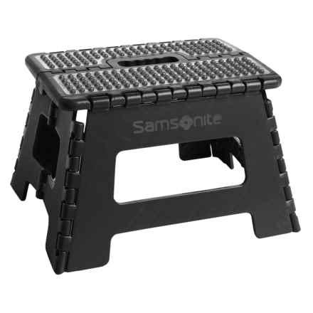 "Samsonite Mini Folding Step Stool - 9"" in Black/Gray - Closeouts"