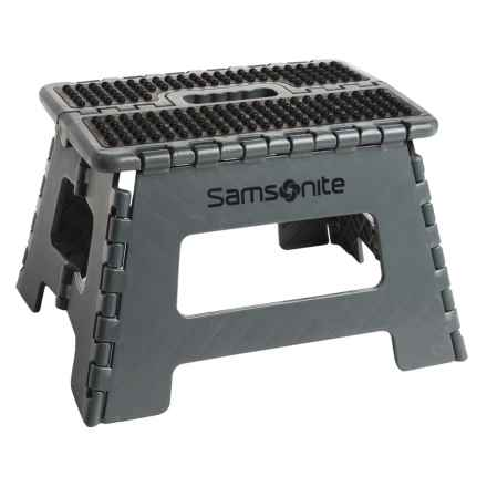 "Samsonite Mini Folding Step Stool - 9"" in Gray/Black - Closeouts"