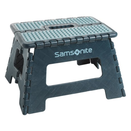 "Samsonite Mini Folding Step Stool - 9"" in Navy/Light Blue"