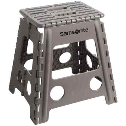 Samsonite Tall Folding Step Stool in Gray/Black - Closeouts