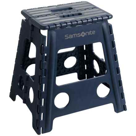 Samsonite Tall Folding Step Stool in Navy/Gray - Closeouts