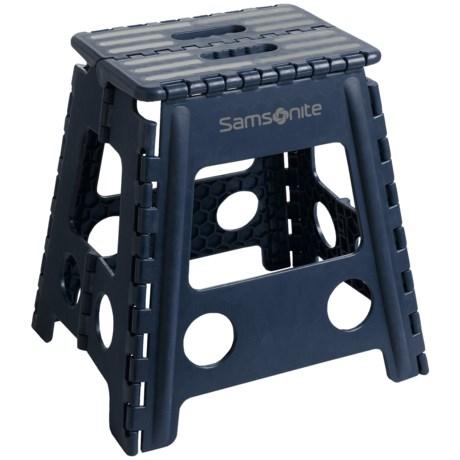 samsonite tall folding step stool in navygray - Folding Step Stool