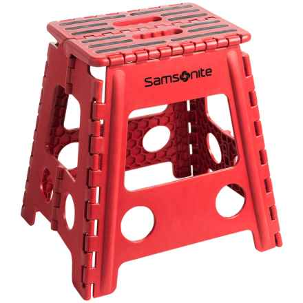 Samsonite Tall Folding Step Stool in Red/Black - Closeouts