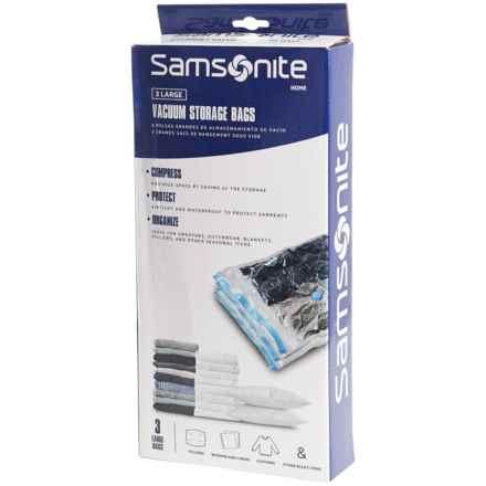 Samsonite Vacuum Storage Bag - Large, Set of 3 in See Photo - Closeouts