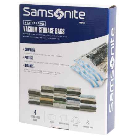 Samsonite Vacuum Storage Bags - Extra Large, 4-Pack in See Photo - Closeouts