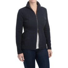 Samuel Dong Textured Jacket - Full Zip (For Women) in Black/Navy - Closeouts