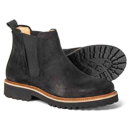 Samuel Hubbard Made in Portugal 24 Seven Chelsea Boots - Suede (For Women) in Black Suede