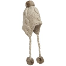 San Diego Hat Company Knit Pompom Hat - Ear Flaps (For Infant and Kids) in Oatmeal - Closeouts