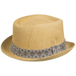 San Diego Hat Company Paperbraid Pork Pie Hat - Paper Straw (For Men and Women) in Natural