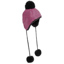 San Diego Hat Company Tasseled Pompom Trapper Hat (For Infants and Kids) in Hot Pink - Closeouts