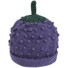 San Diego Hat Company Textured Fruit Knit Beanie Hat (For Infants and Toddlers) in Boysenberry - Closeouts