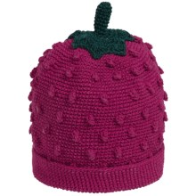 San Diego Hat Company Textured Fruit Knit Beanie Hat (For Infants and Toddlers) in Raspberry - Closeouts